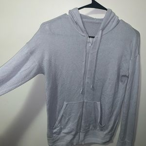 Lululemon light blue zip up